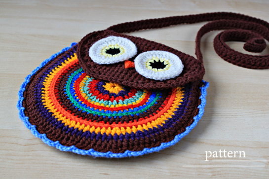 New Pattern ~ Crochet Owl Purse ? Pattern ? Zoom Yummy - Crochet ...