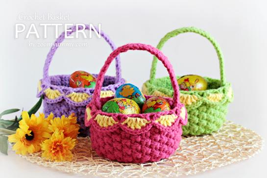 New Pattern Crochet Baskets Pattern Zoom Yummy Crochet Food Mesmerizing Free Crochet Easter Basket Patterns
