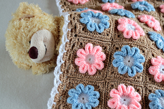 Crochet 3d Flower Baby Blanket Free Pattern : Pics Photos - New Pattern Crochet 3d Flower Baby Blanket ...