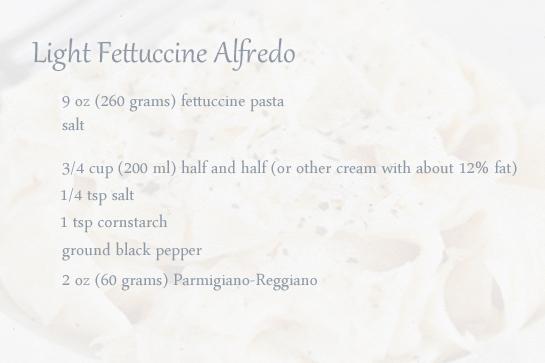 light-fettuccine-alfredo-ingredients