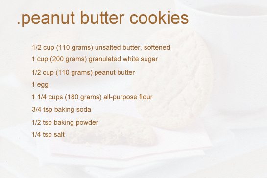 Recipes For Peanut Butter Cookies