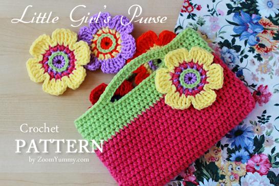 New Pattern ? Little Girl s Crochet Purse Crochet Zoom ...