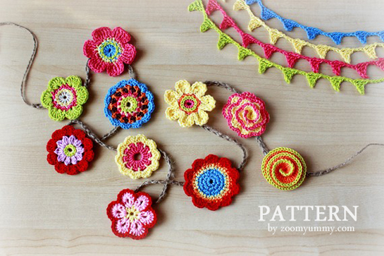 pattern-crochet-flower-collection-and-crochet-mini-bunting