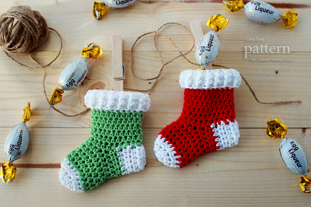 Crochet Patterns For Xmas Stockings : New Pattern - Crochet Christmas Stocking Ornaments ? Crochet ...