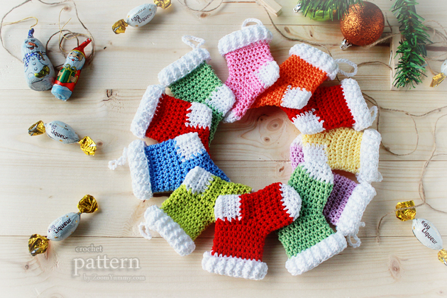 Crochet Xmas Ornaments : New Pattern - Crochet Christmas Stocking Ornaments ? Crochet ...