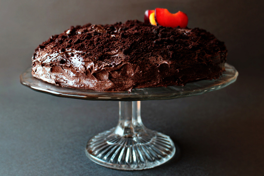 chocolate cake with chocolate buttercream frosting recipe