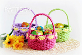 Easter crochet baskets pattern