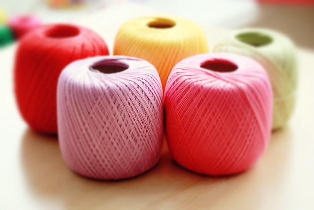 colorful crochet yarn
