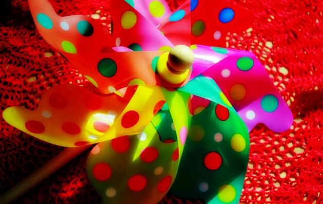 colorful pinwheel hdr