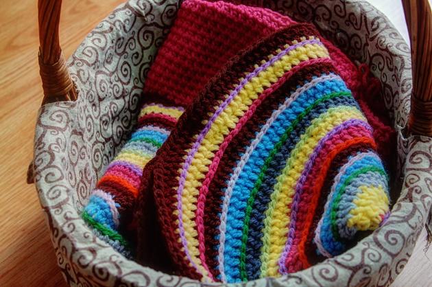 crochet floor cushion in progress hdr