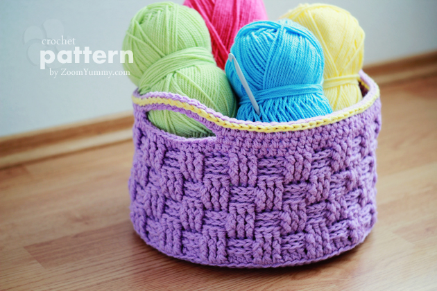 Crochet Stitches Basket : ... Crochet Baskets ? Crochet ? Zoom Yummy - Crochet, Food