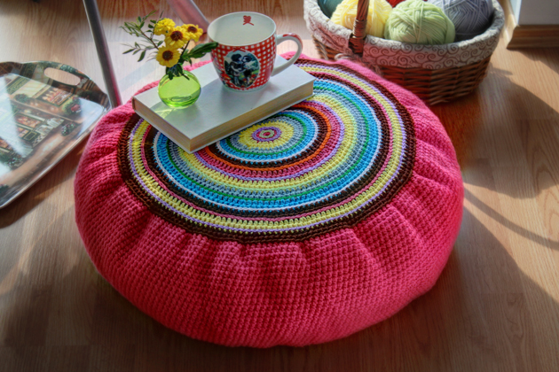 pattern crochet floor cushion
