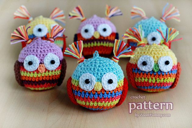 crochet pattern - Christmas ball - owl