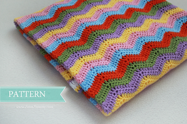 New Pattern ? Simple Crochet Ripple Baby Blanket Crochet ...