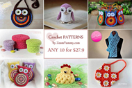 Pick Any 10 Crochet Patterns Bundle