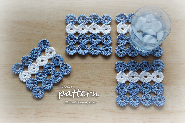 Free Online Crochet Patterns For Coasters : New Crochet Pattern ? Joy Joy Coasters Crochet Zoom ...