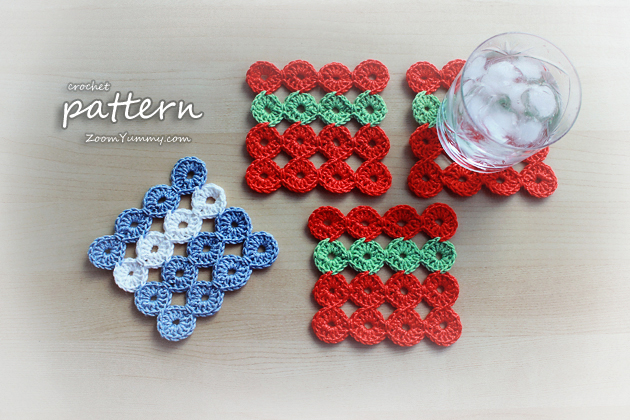 crochet coasters pattern
