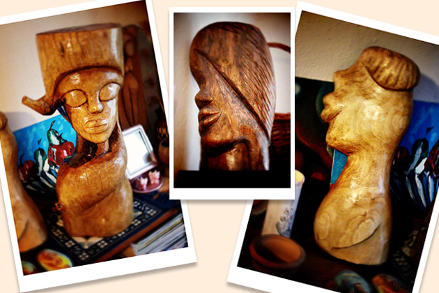 hand carved wood sculptures