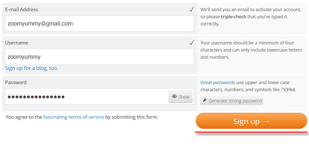 wordpress sign up for new account authorize jetpack