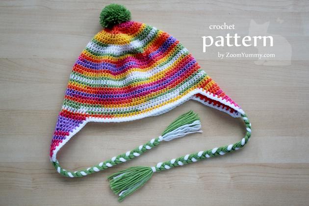 crochet earflap beanie pattern