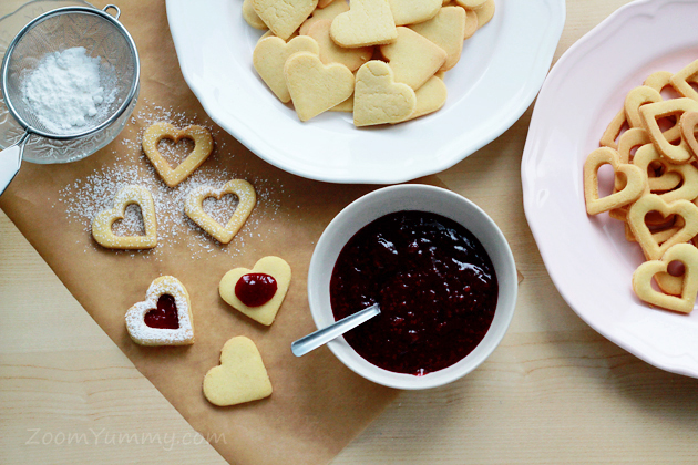 linzer heart shaped cookies recipes