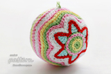 Colorful Christmas Star Ball Pattern