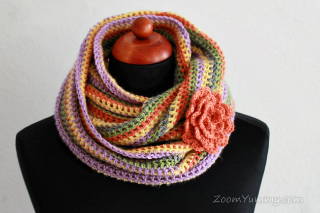 Easy Crochet Infinity Scarf Free Pattern Crochet Zoom Yummy Custom Crochet Infinity Scarf Pattern In The Round