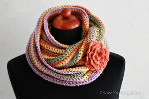 Easy Crochet Infinity Scarf Free Pattern