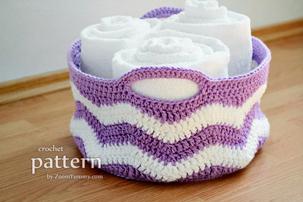 Crochet Ripple Basket