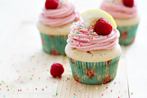 Lemon Raspberry Cupcakes recipe with step by step pictures, ingredients for lemon dessert, pictures, images