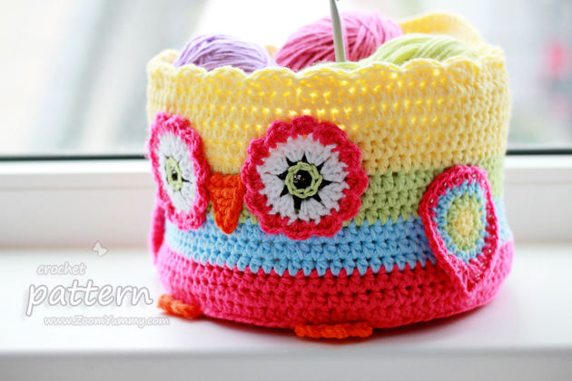 Crochet Owl Basket : Pattern - Crochet Owl Basket ? Crochet ? Zoom Yummy - Crochet ...