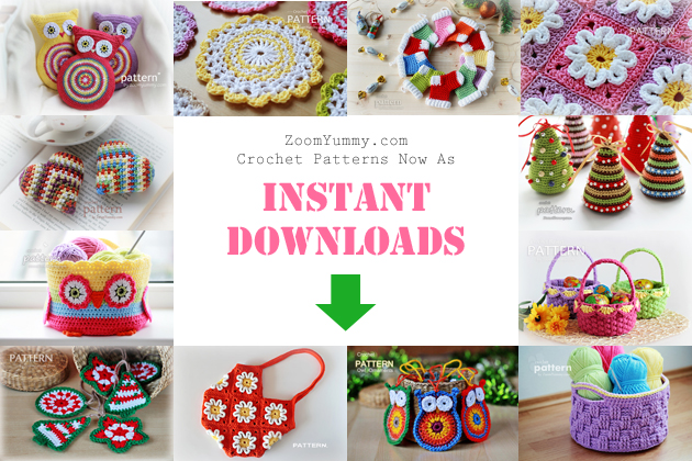 instant download crochet patterns from ZoomYummy.com