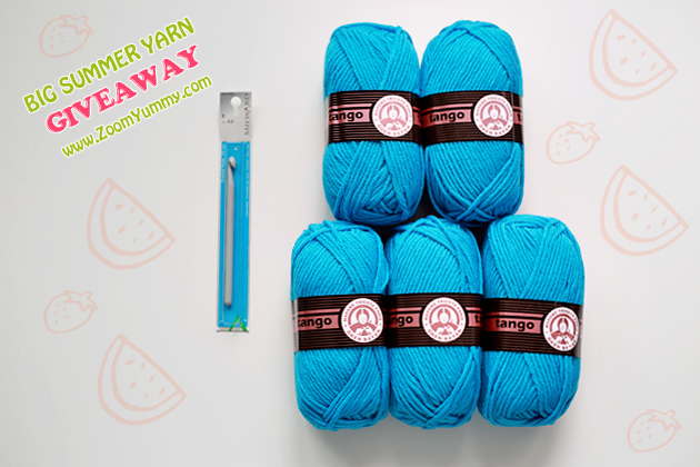 big summer yarn giveaway on ZoomYummy.com
