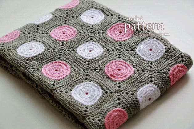 crochet pattern - polka dot blanket