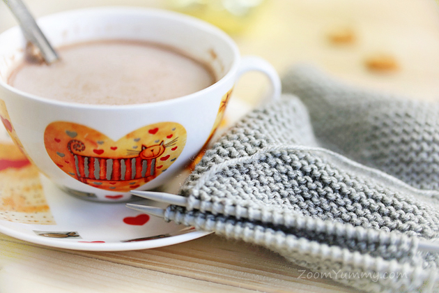 cup and knitting