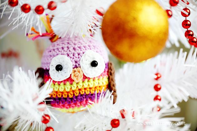 crochet Christmas tree crochet Christmas tree ornaments - owl