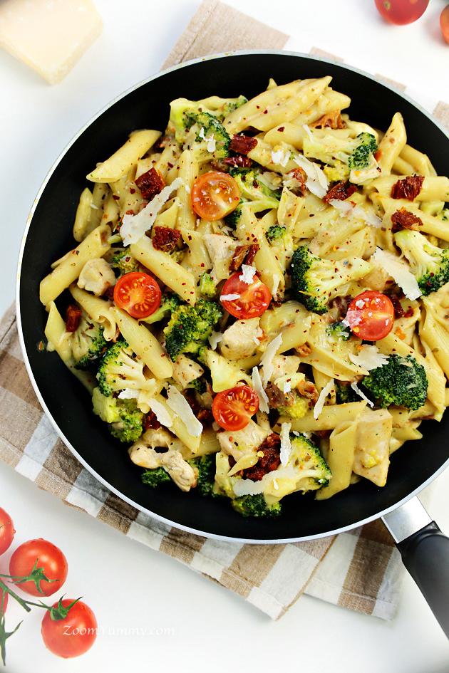 chicken broccoli skillet with parmesan recipe