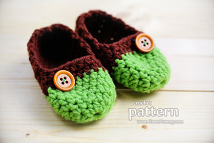 The Easiest Crochet Baby Slippers, Age 0-3 Months (PATTERN)