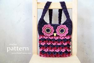 Crochet Pattern - Crochet Owl Purse With Feathers