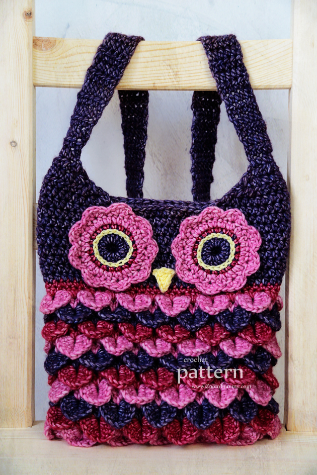 New Pattern   Crochet Owl Purse With Feathers   Crochet   Zoom Yummy   Croche...