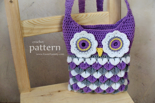 New Pattern - Crochet Owl Purse With Feathers ? Crochet ? Zoom ...