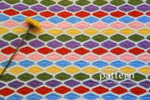 crochet pattern - a million diamonds blanket