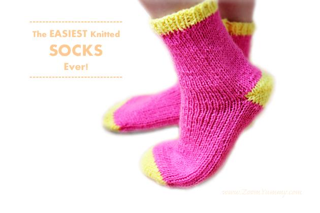 Knitting Socks Design 2017 : The easiest knitted socks ever diy « zoom yummy
