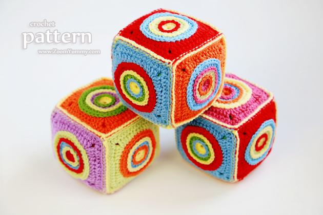crochet cube soft toy pattern