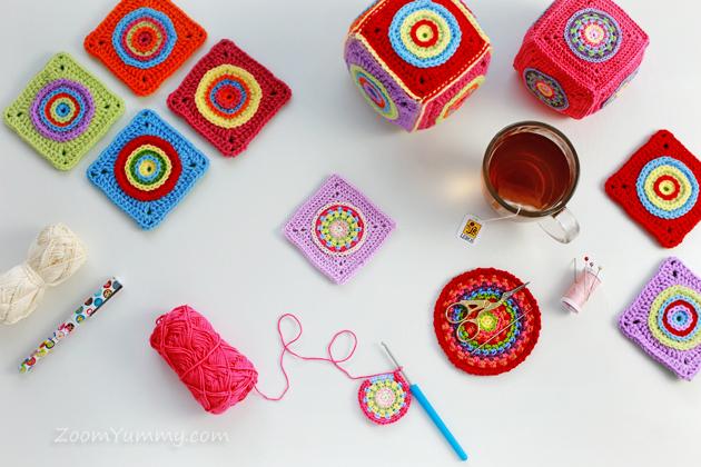 crochet cubes soft toy