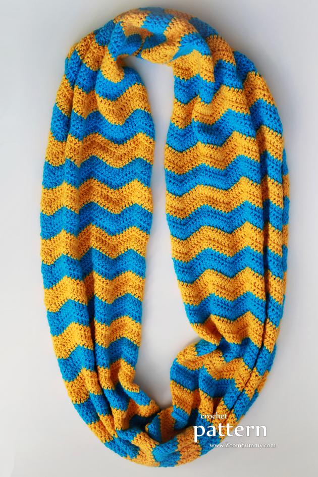pattern crochet chevron infinity scarf