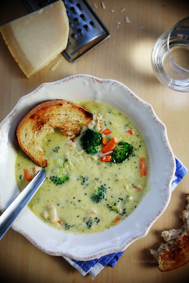 broccoli and cheese soup recipe