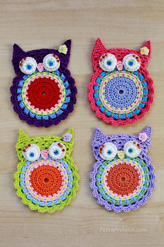 Crochet Owl Coasters Have Landed In The Shop Crochet ...
