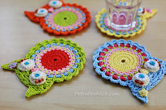 Crochet Owl Coasters Have Landed In The Shop ? Crochet ? Zoom Yummy ...