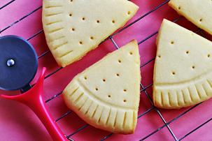 Pizza Slice Sugar Cookies